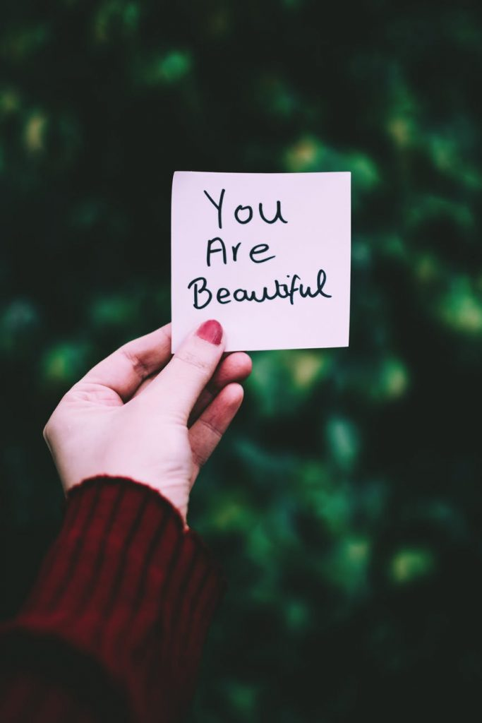 You Are beautiful notes