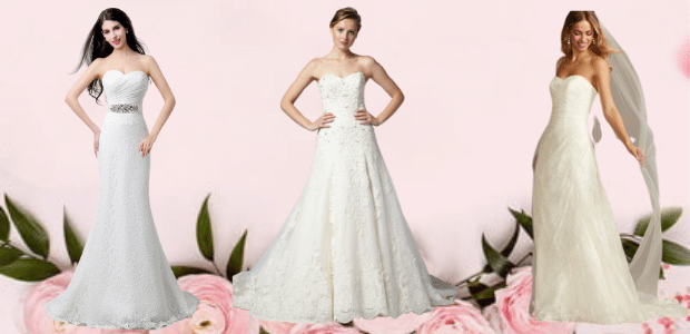 Strapless Wedding Dresses and Gowns