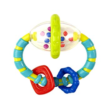 Bright Starts Grab and Spin Rattle Sensory Chew Toys