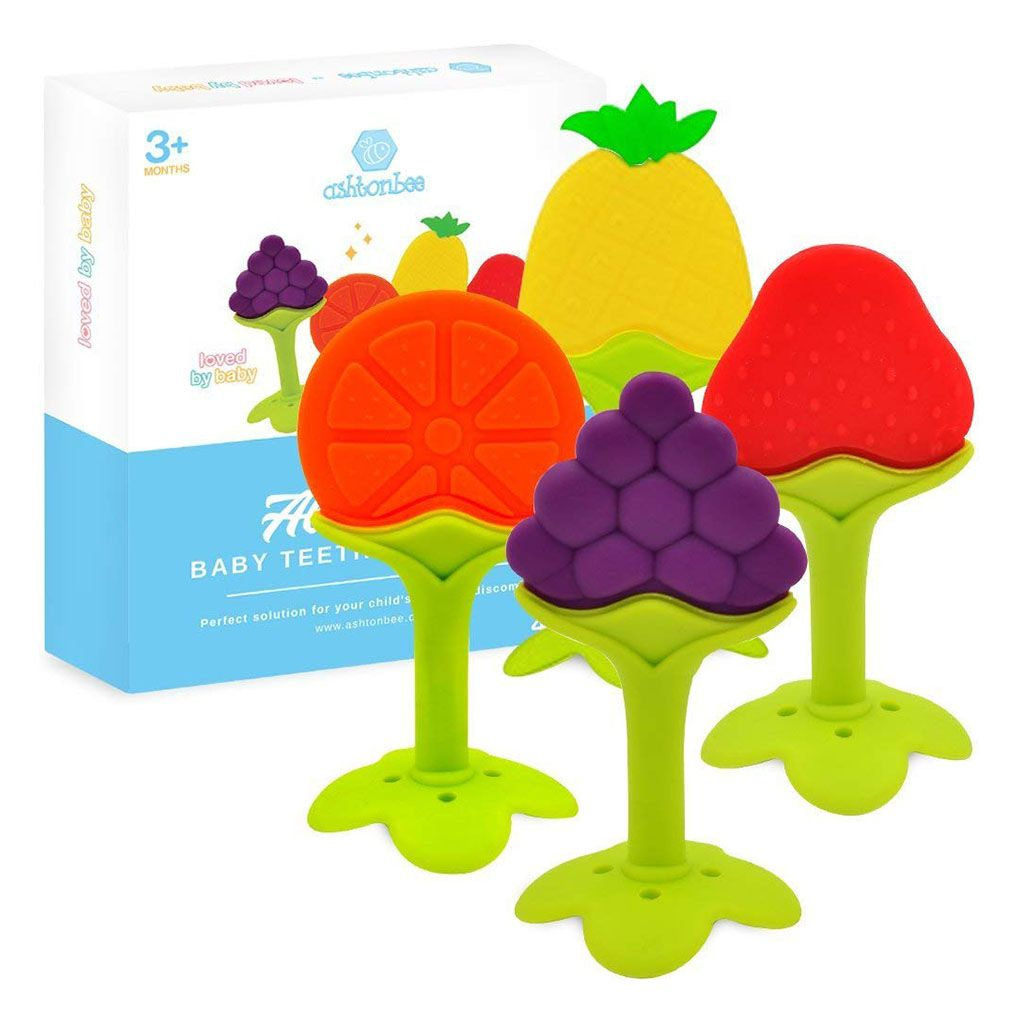 Soft Fruit Sensory Chew Teething Toys
