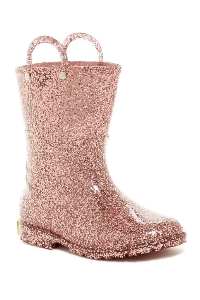Western Chief Girl's Glitter Waterproof Rain Boots