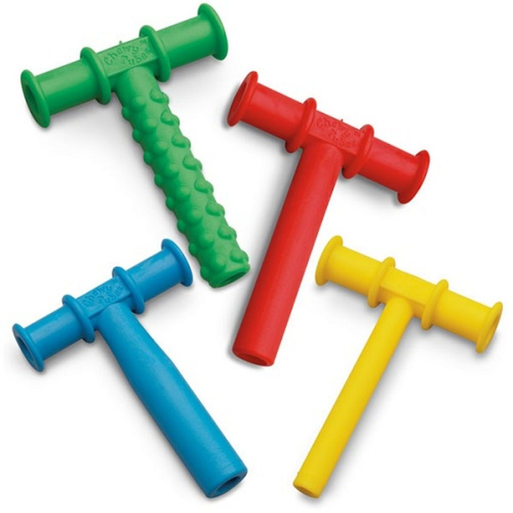 Red Chewy Tubes Sensory toys