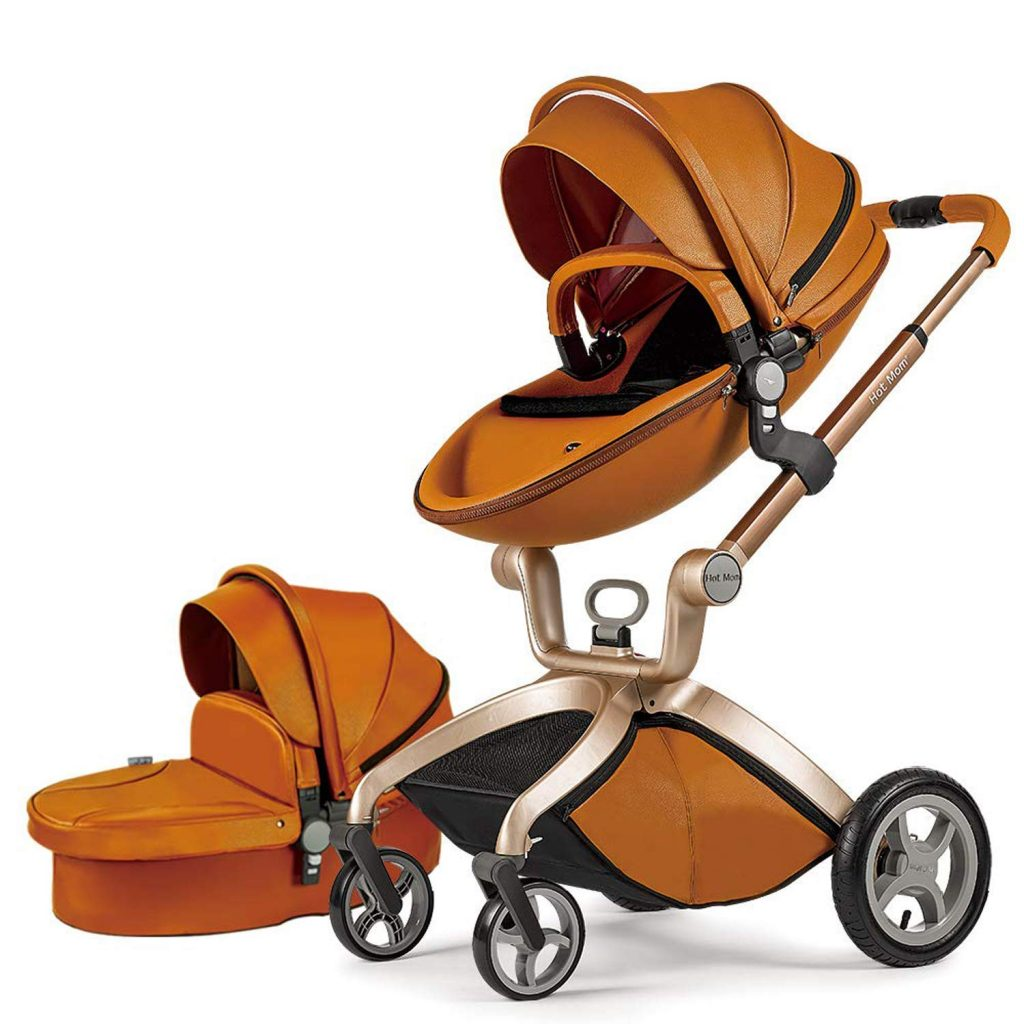 Baby Stroller with Bassinet Combo