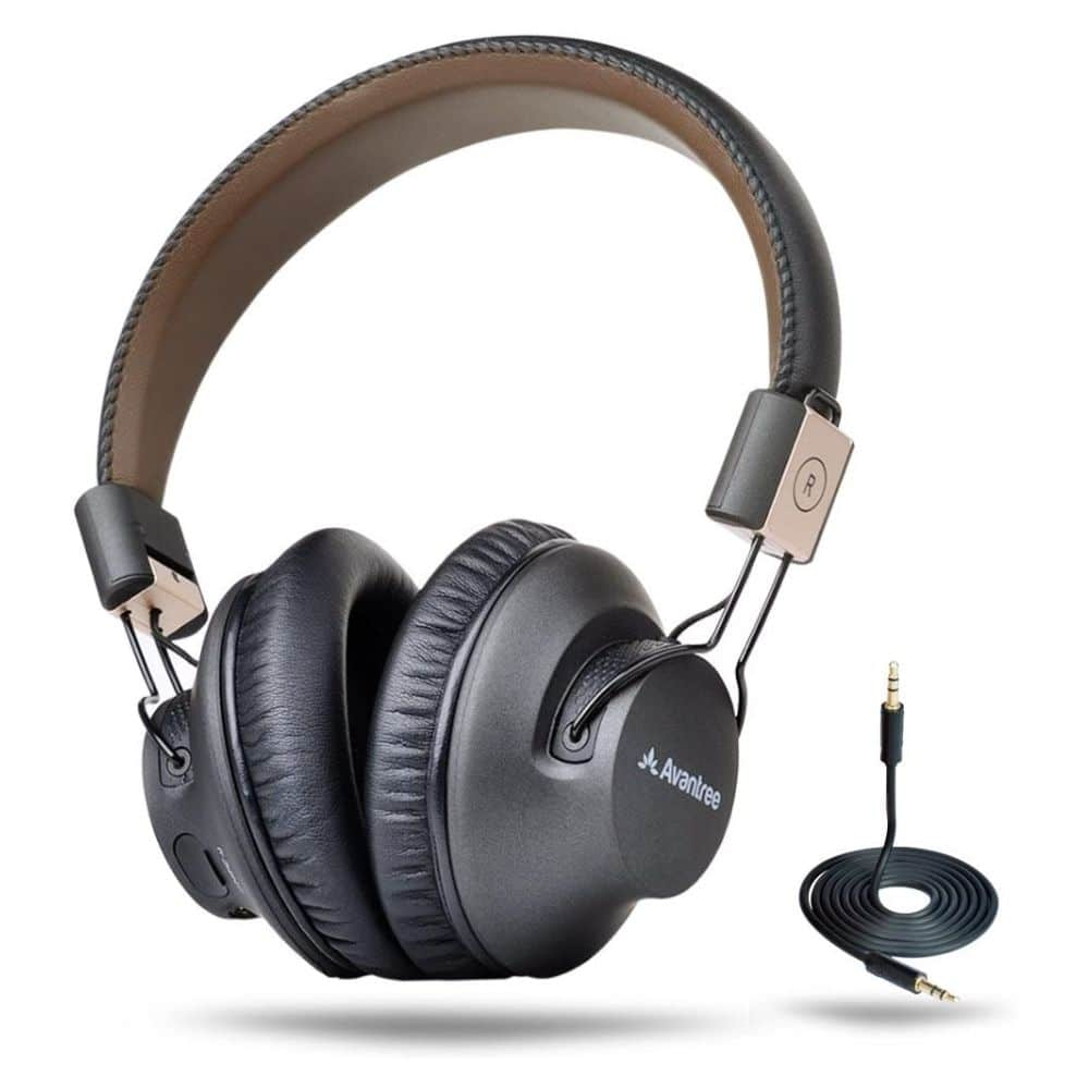Avantree Audition Pro 40 hr Bluetooth Over Ear Headset with Microphone