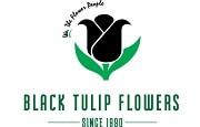 Black Tulip Flowers Logo