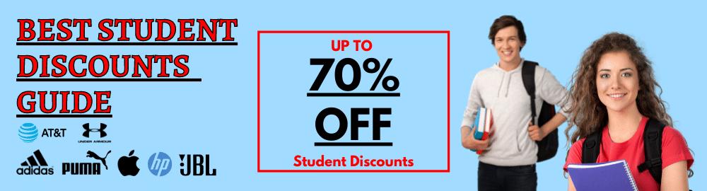 Student discounts